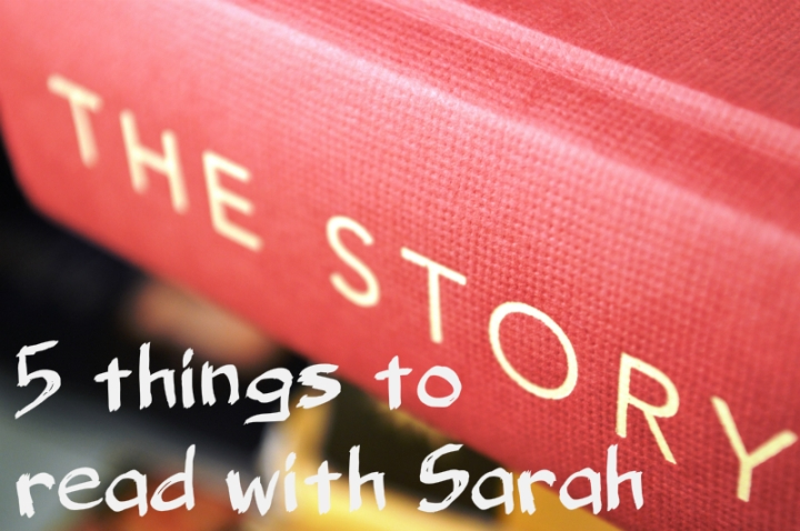 Image of a book, 5 things to read with Sarah