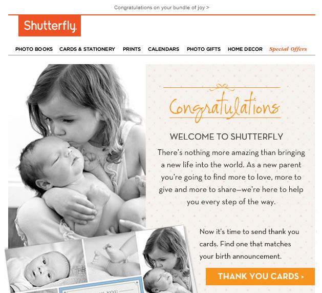 Welcome to Shutterfly. There's nothing more amazing than bringing a new life into the world. As a new parent you're going to find more to love, more to give and more to share-we're here to help you every step of the way.